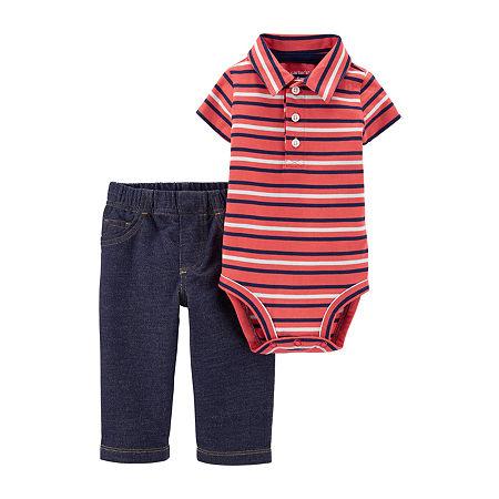 Carter's Baby Boys Bodysuit Set, 12 Months , Red