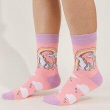 Socken mit Einhorn Muster