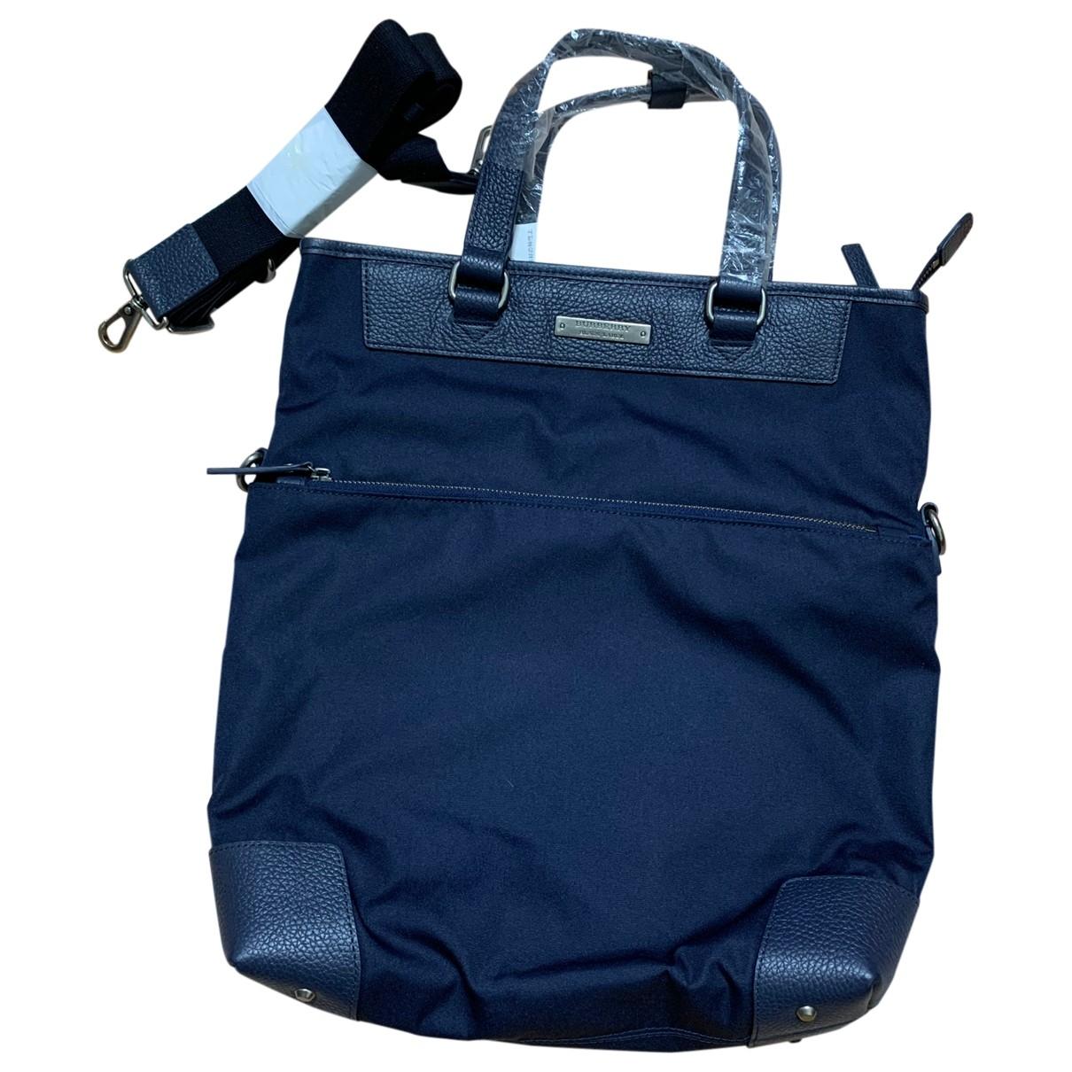 Burberry \N Blue Cloth bag for Men \N