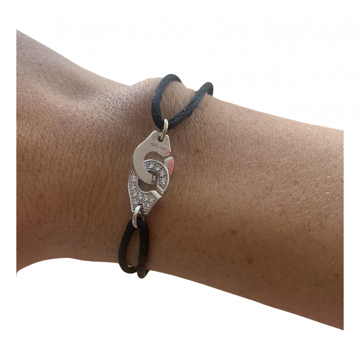 Dinh Van - Bracelet Menottes  pour femme en or blanc - noir