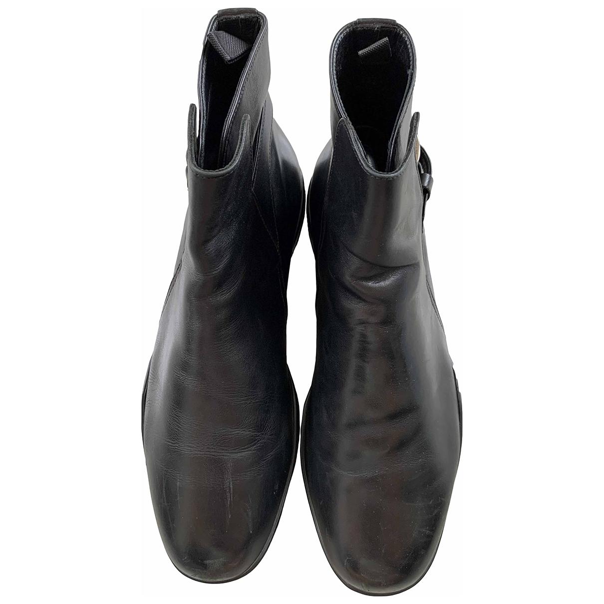 Prada \N Black Leather Boots for Men 7.5 UK
