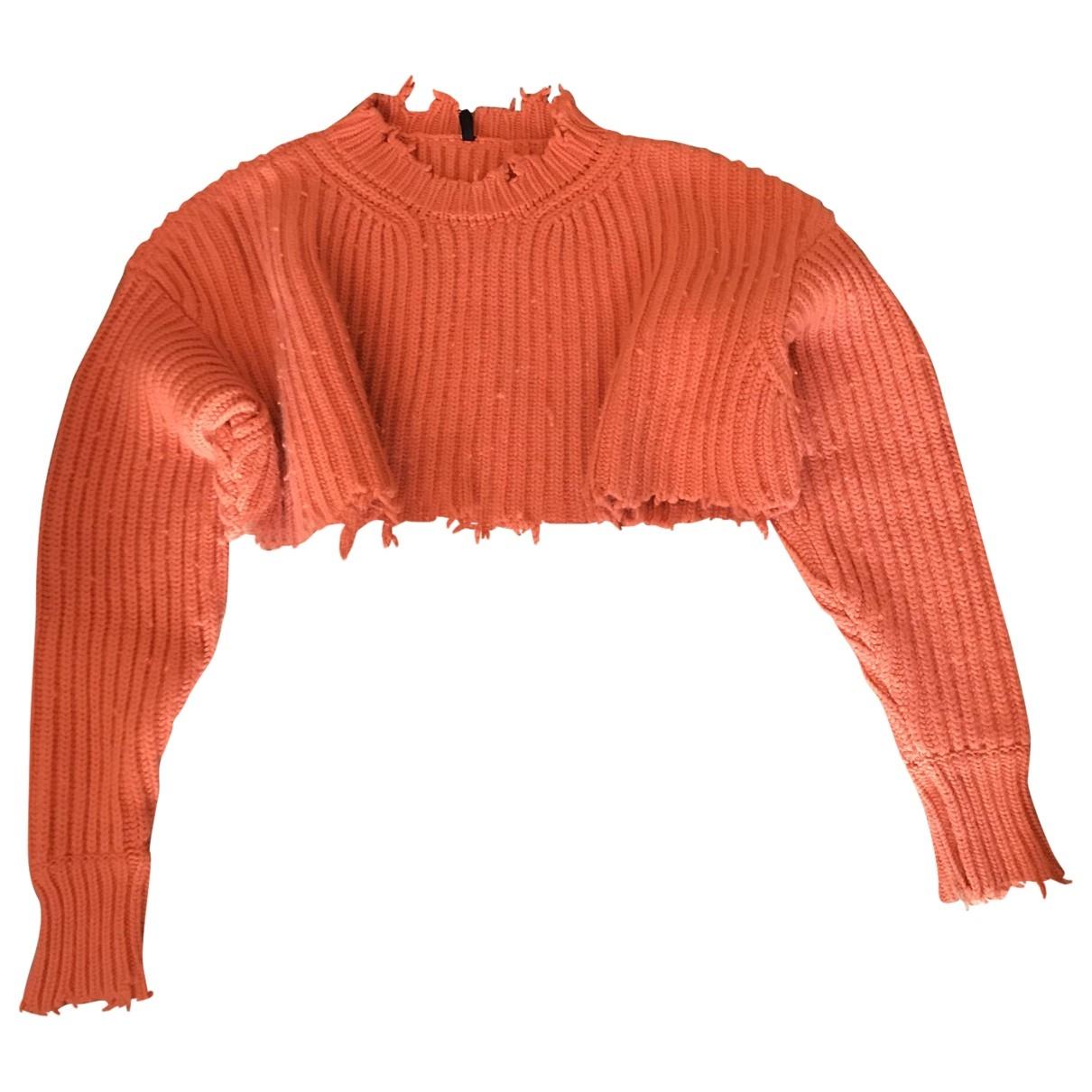 - Pull   pour femme en laine - orange