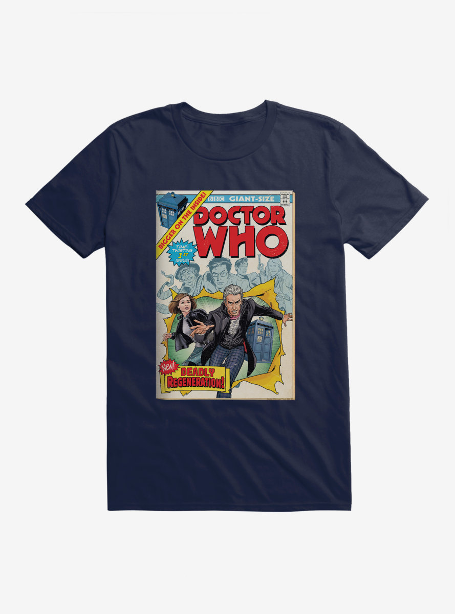 Doctor Who Twelfth Doctor Deadly Regeneration Comic T-Shirt