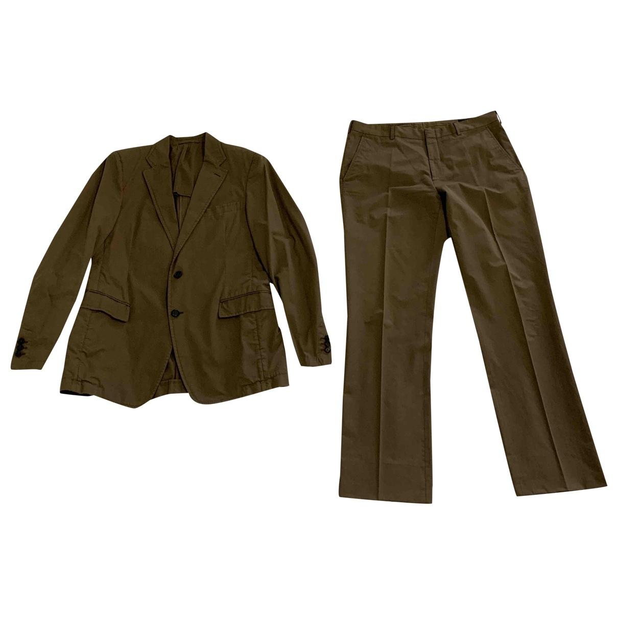 Prada - Costumes   pour homme en coton - marron