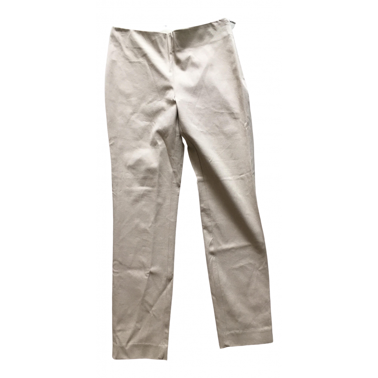 Lauren Ralph Lauren \N Beige Cotton Trousers for Women 2 US