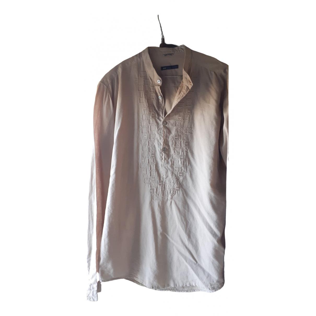 Daniele Alessandrini - Chemises   pour homme en coton - beige