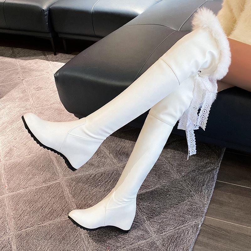 Ericdress Plain Hidden Elevator Heel Round Toe OL Boots