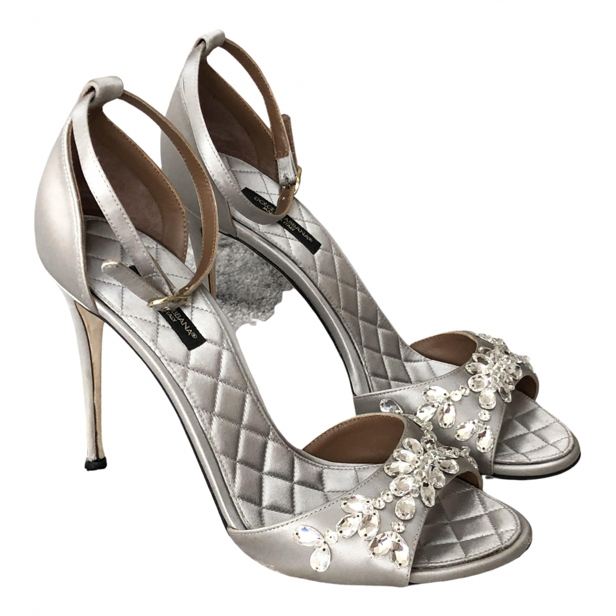 Dolce & Gabbana \N Silver Cloth Sandals for Women 38 EU