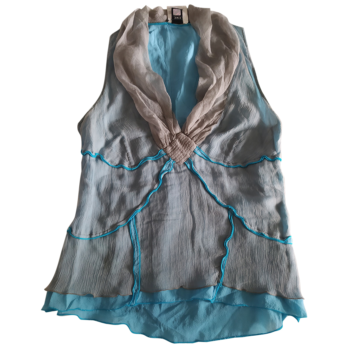Costume National - Top   pour femme en soie - multicolore
