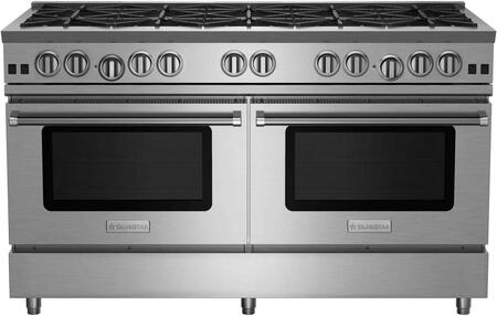 RNB6010BV2LCC 60 RNB Series Freestanding Gas Range with 10 Cast Iron Open Burners  4.5 Cu. Ft. Convection Oven  Simmer Burner  Full Motion Grates