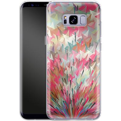 Samsung Galaxy S8 Plus Silikon Handyhuelle - Black Pigment Explosion von Danny Ivan