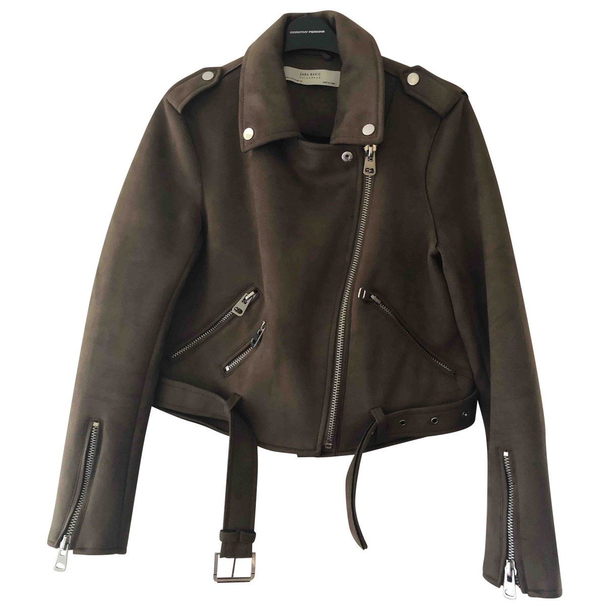 Zara \N Jacke in  Braun Polyester