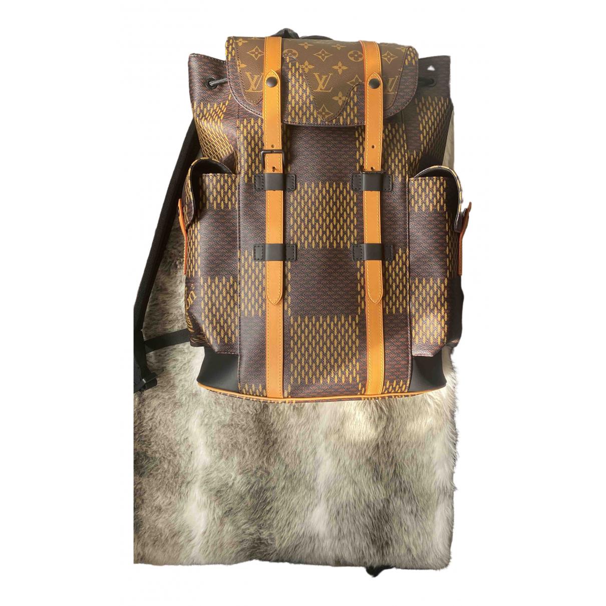 Louis Vuitton X Nigo - Sac   pour homme en toile - marron