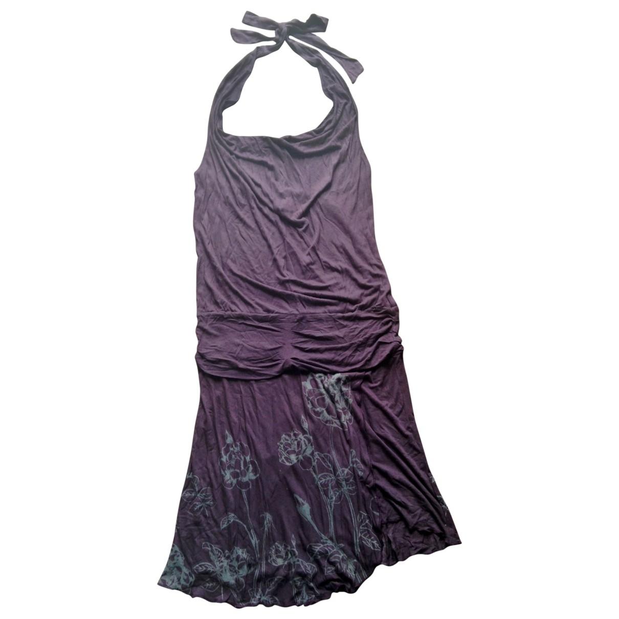 Mango \N Kleid in  Lila Viskose