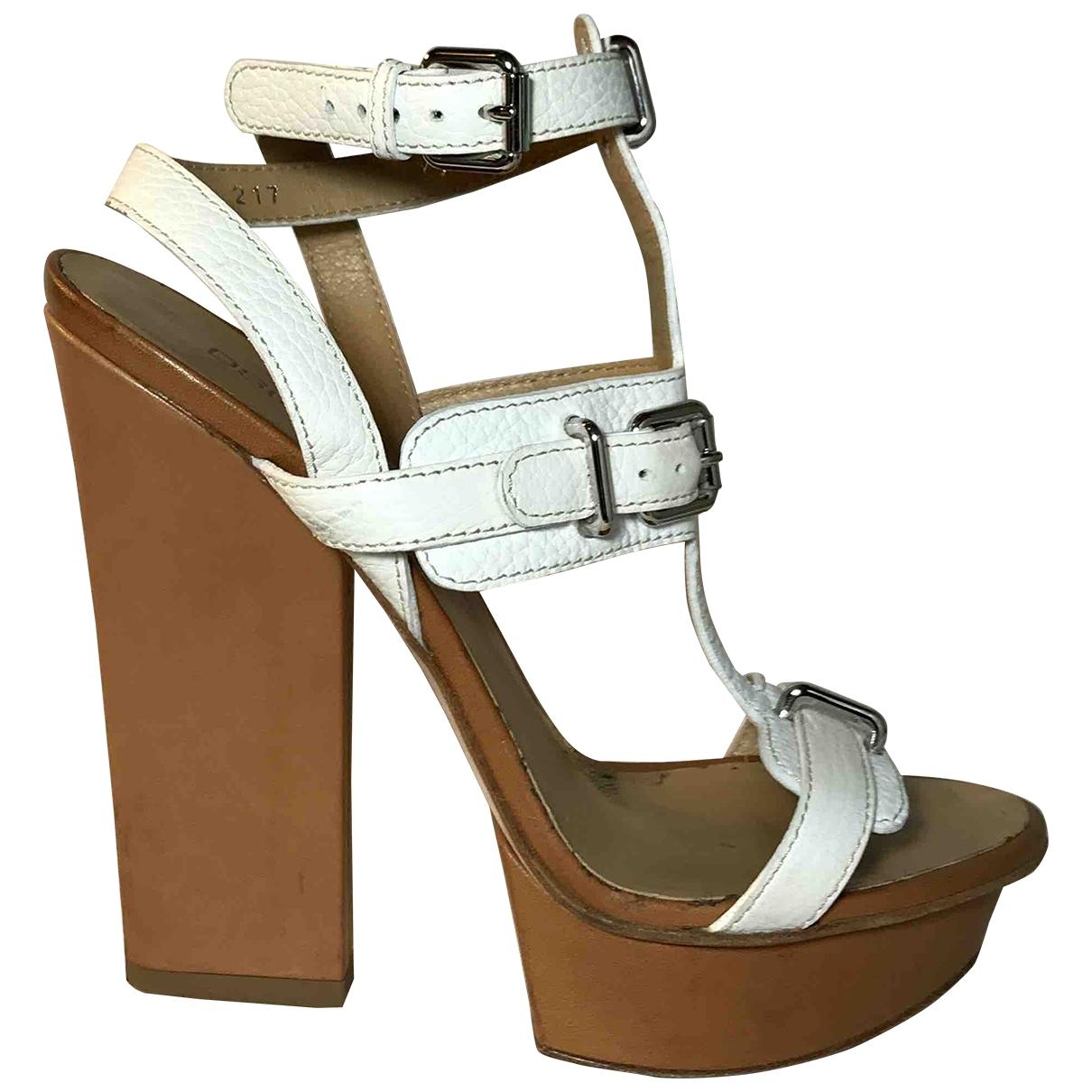 Dsquared2 - Sandales   pour femme en cuir - blanc