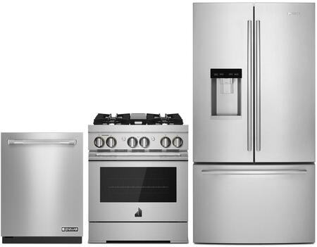 3 Piece Wi-Fi Connected Kitchen Appliances Package with JFFCC72EFS 36