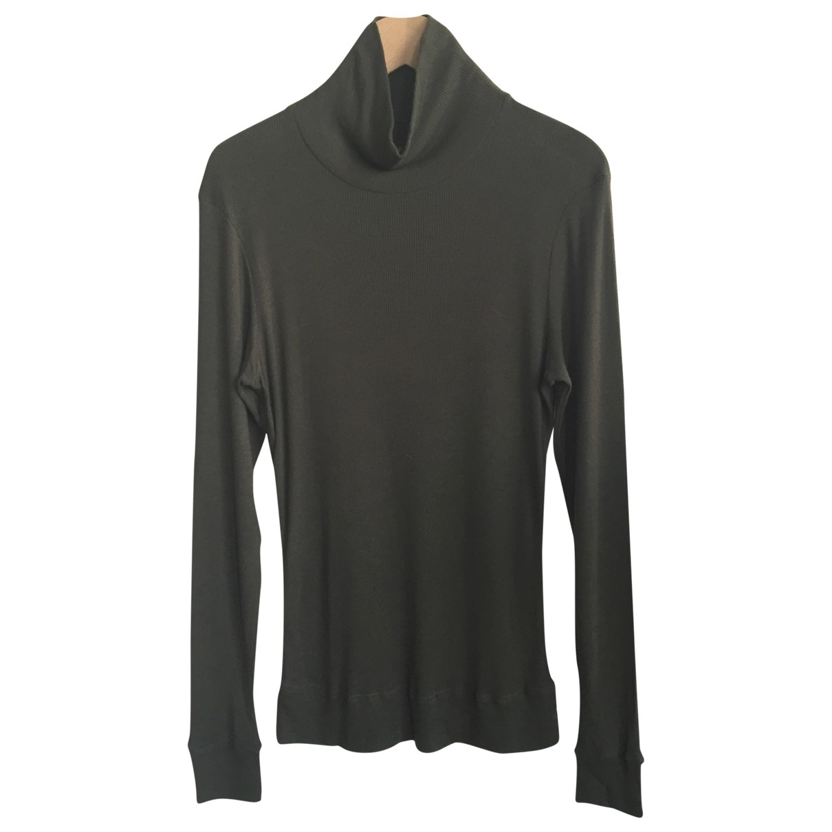 Balenciaga \N Pullover.Westen.Sweatshirts  in  Khaki Baumwolle