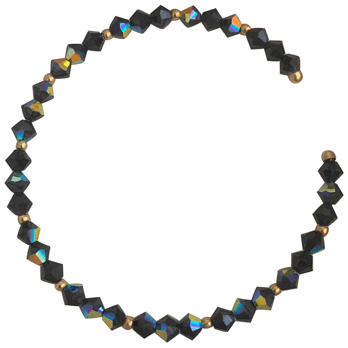 - Bracelet   pour femme en cristal - noir