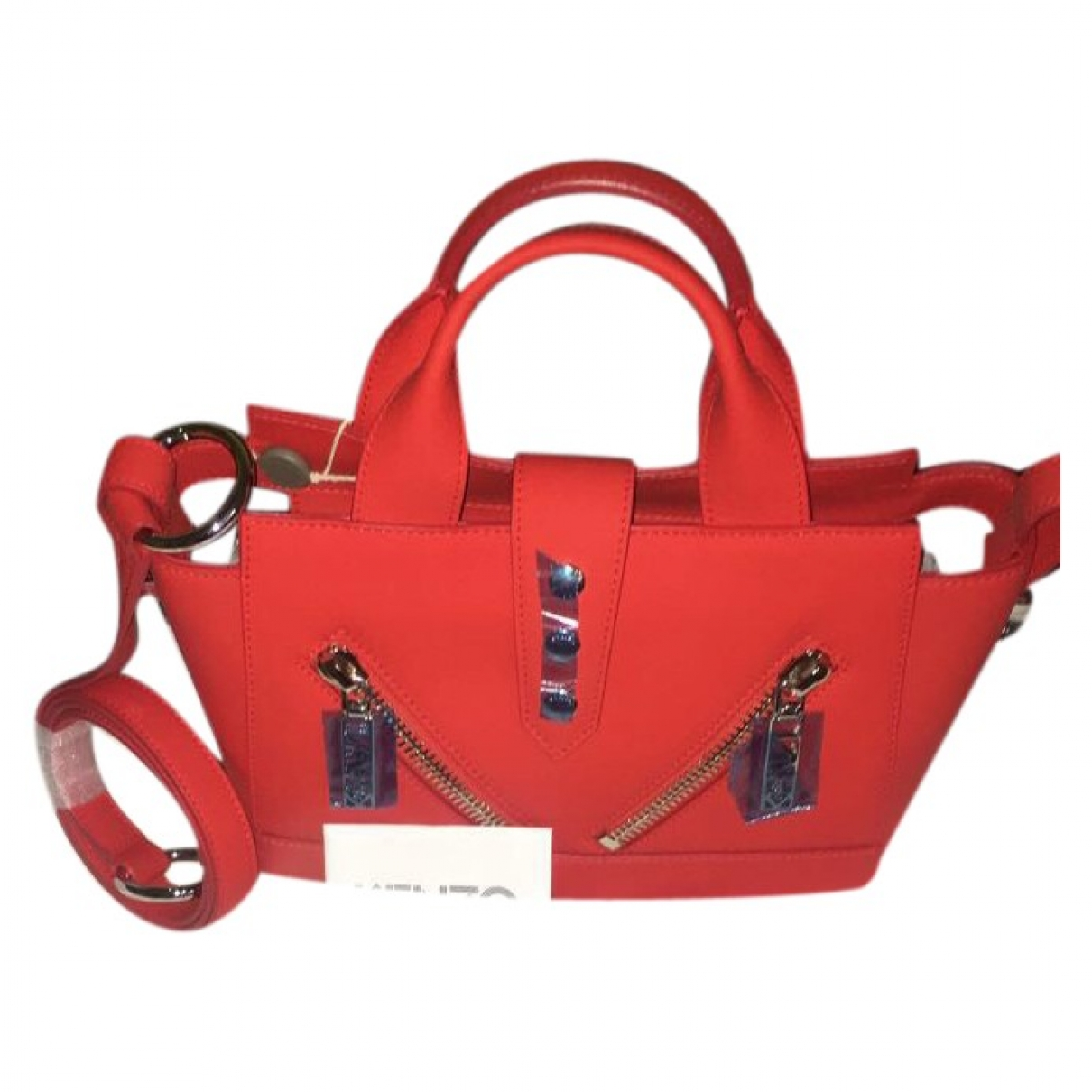 Kenzo Kalifornia Red Leather handbag for Women \N