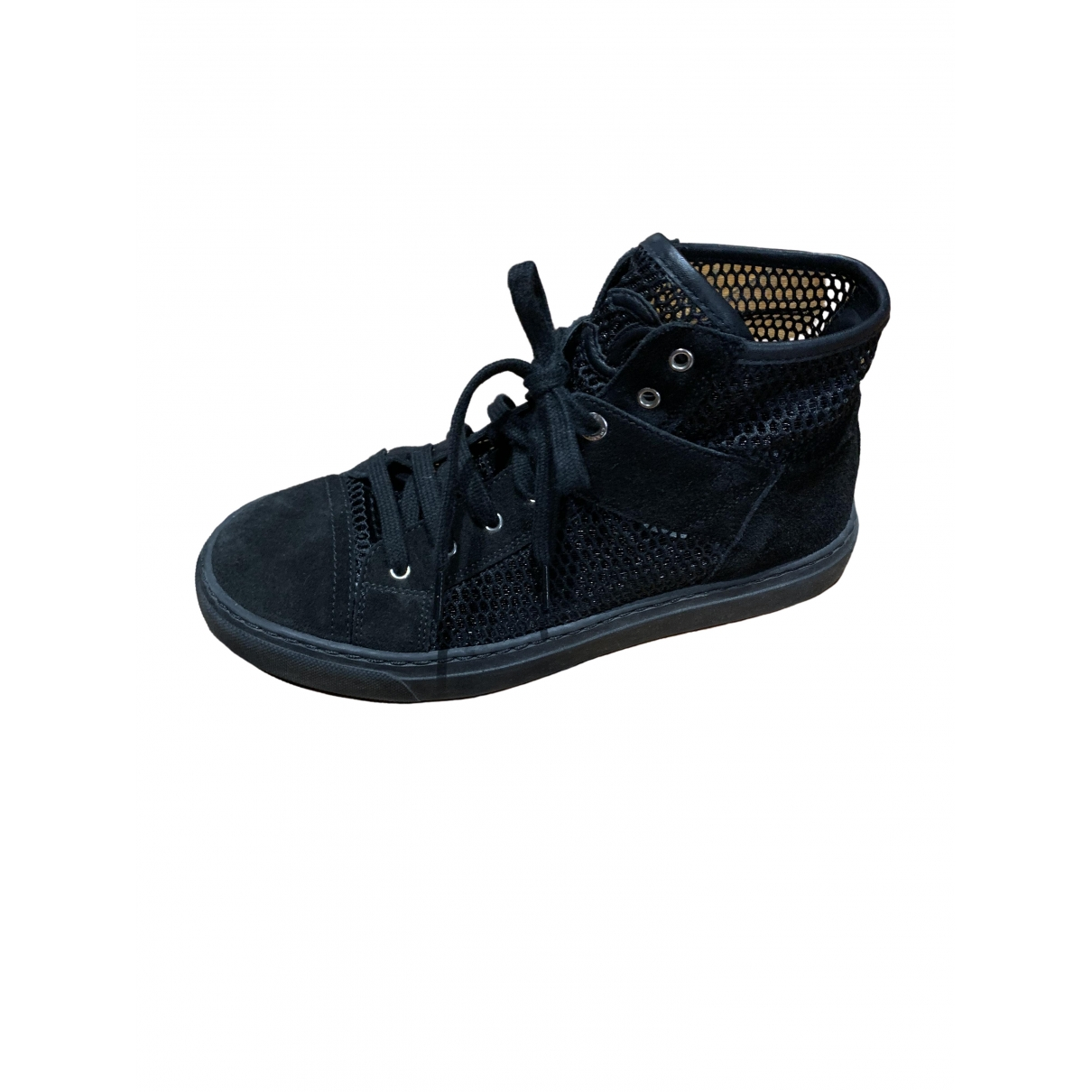 Chanel \N Sneakers in  Schwarz Veloursleder