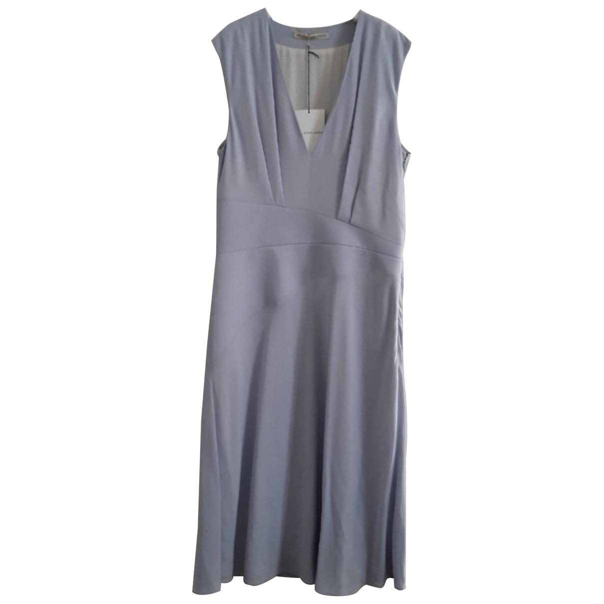 Balenciaga \N Kleid in  Blau Viskose