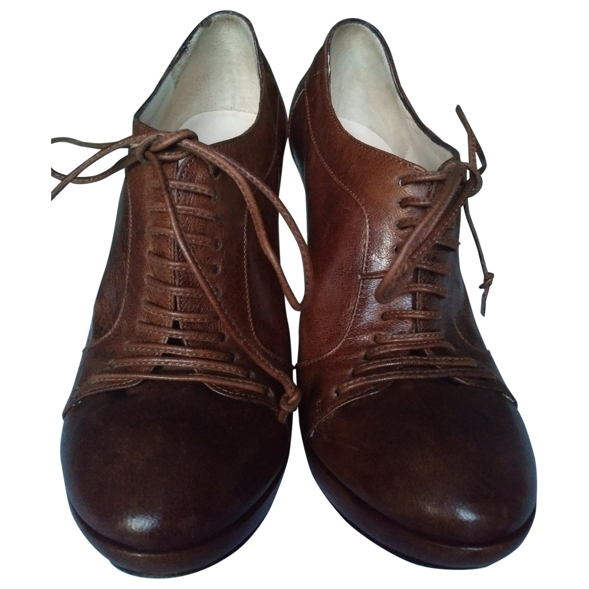 Nina Ricci \N Brown Leather Ankle boots for Women 37 EU