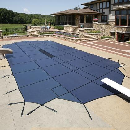 WS2164B Blue 20-Year Ultra Light Solid Safety Cover For 18' x 36' Pool With Center End Step in