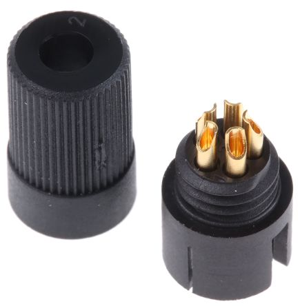 Binder Connector, 5 contacts Cable Mount Subminiature Plug, Solder IP40