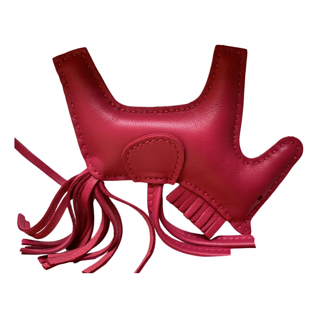 Hermes - Bijoux de sac Rodeo pour femme en cuir - rose
