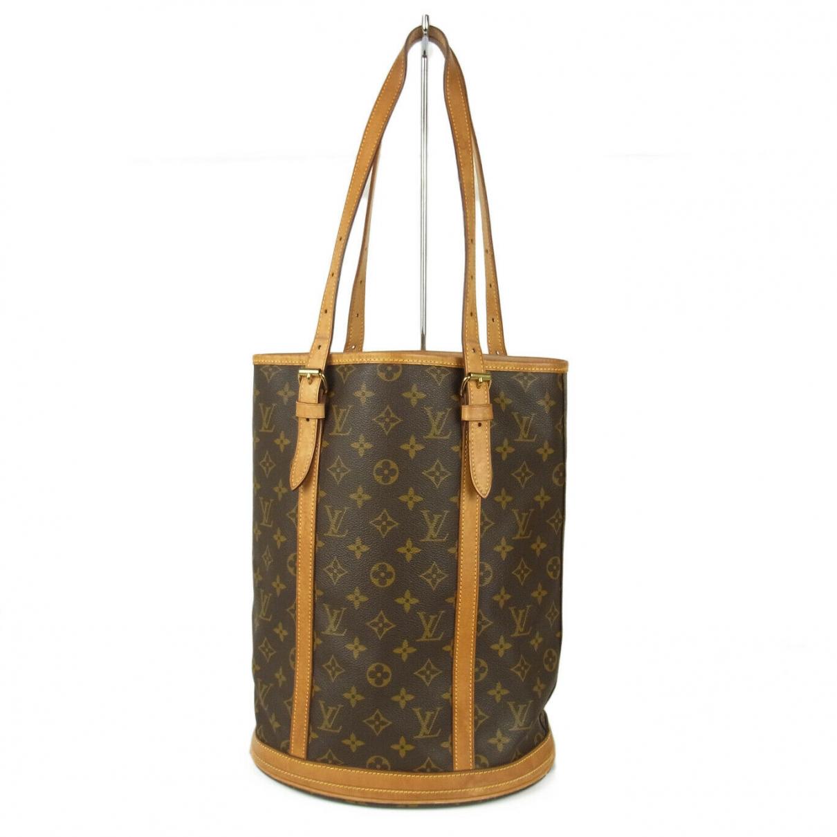 Louis Vuitton Bucket  Handtasche in  Braun Leder