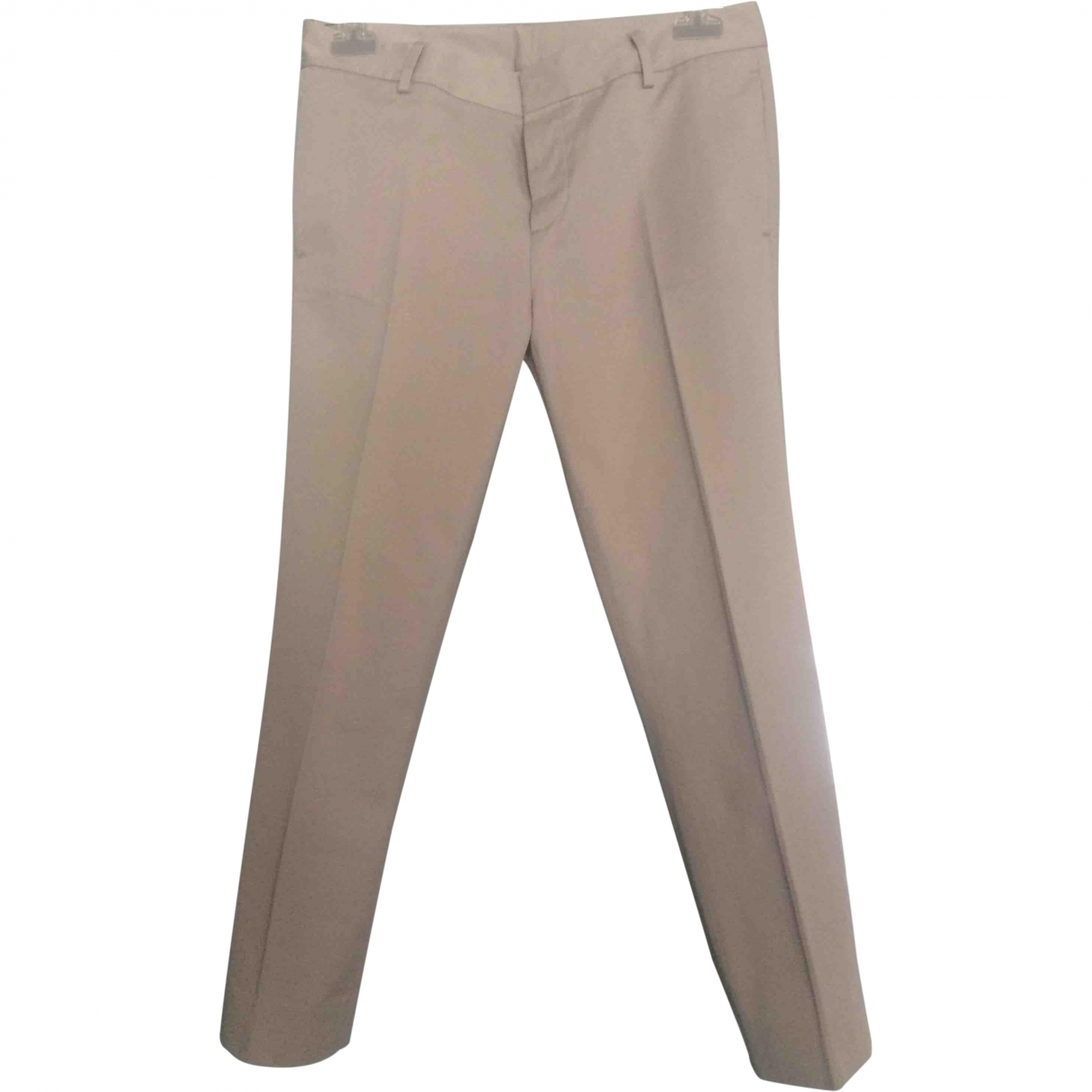 Dsquared2 N Beige Cotton Trousers for Women 34 FR
