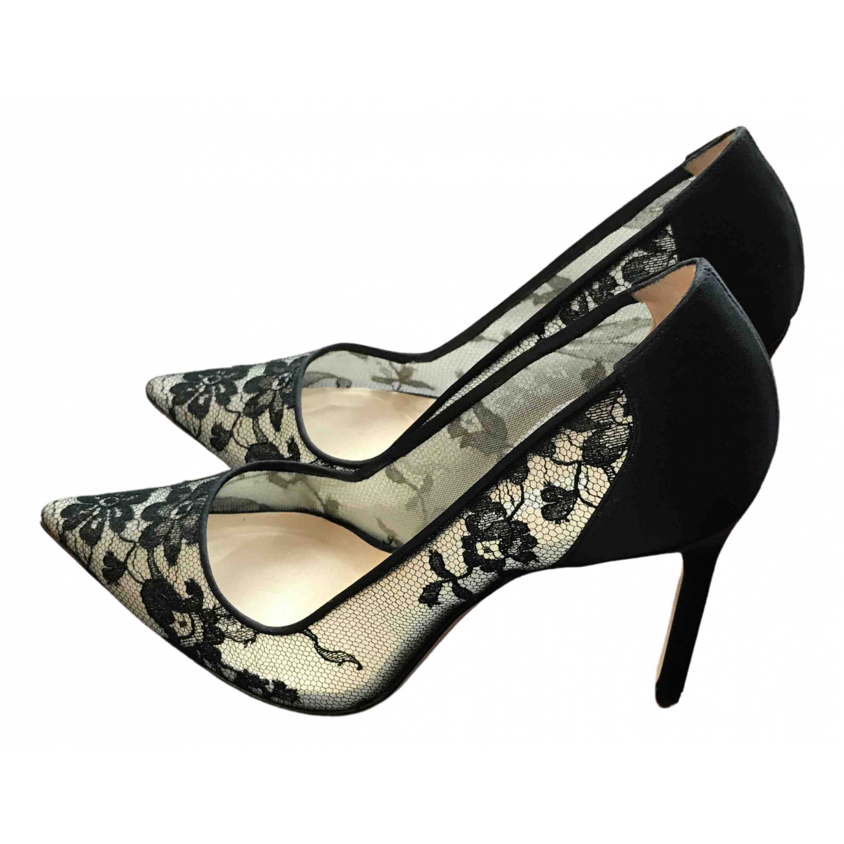 Manolo Blahnik \N Black Cloth Heels for Women 37 EU