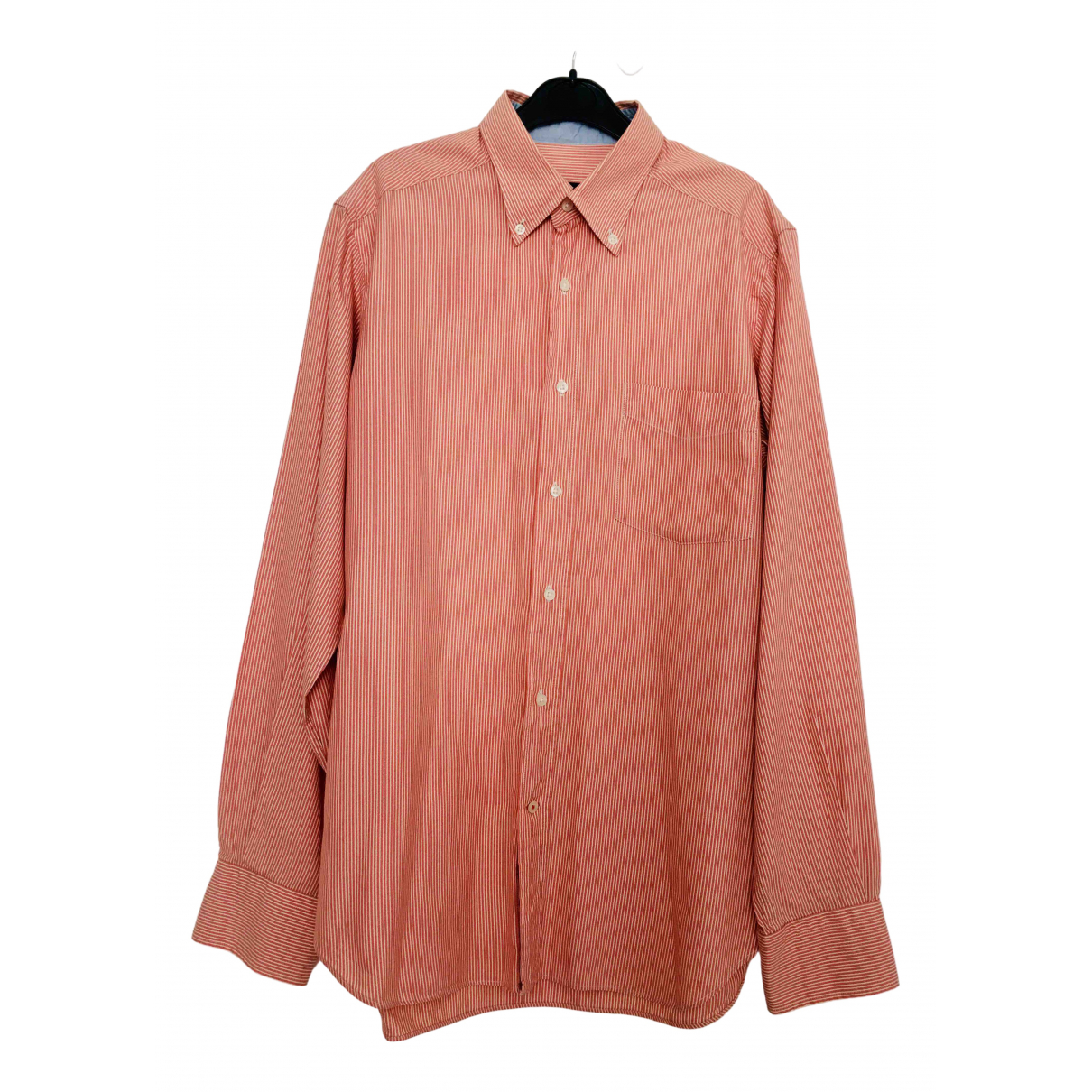 Massimo Dutti - Chemises   pour homme en coton - orange