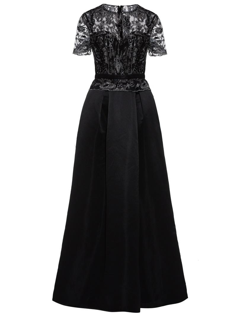 Ericdress Short Sleeve Scoop Neck Short Sleeves A Line Evening Dress