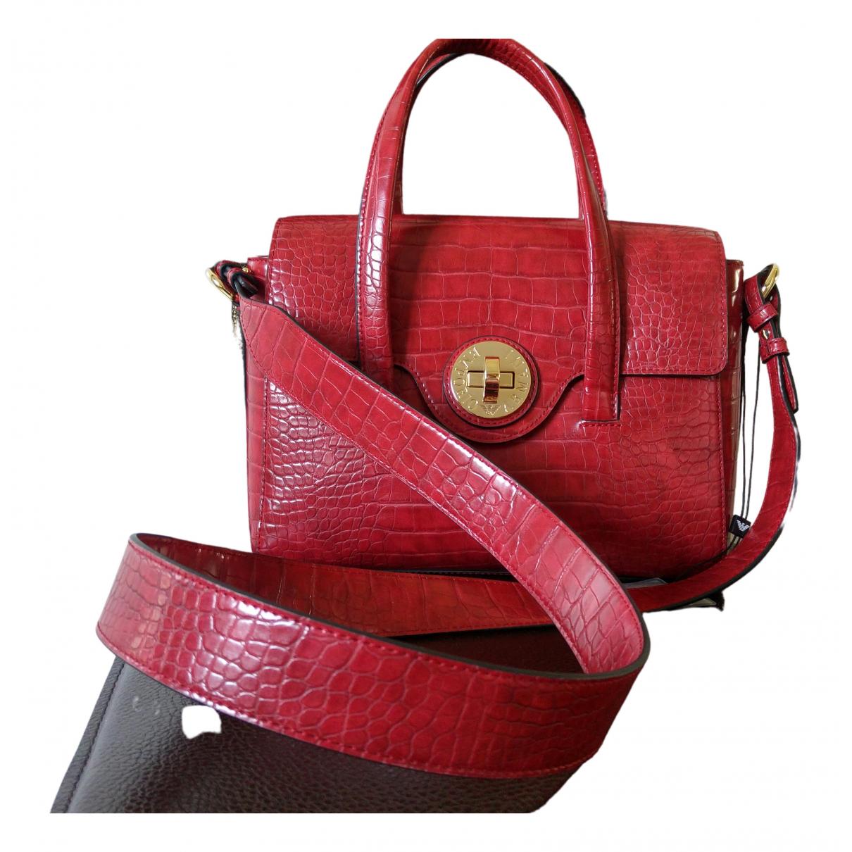 Emporio Armani \N Handtasche in  Rot Leder