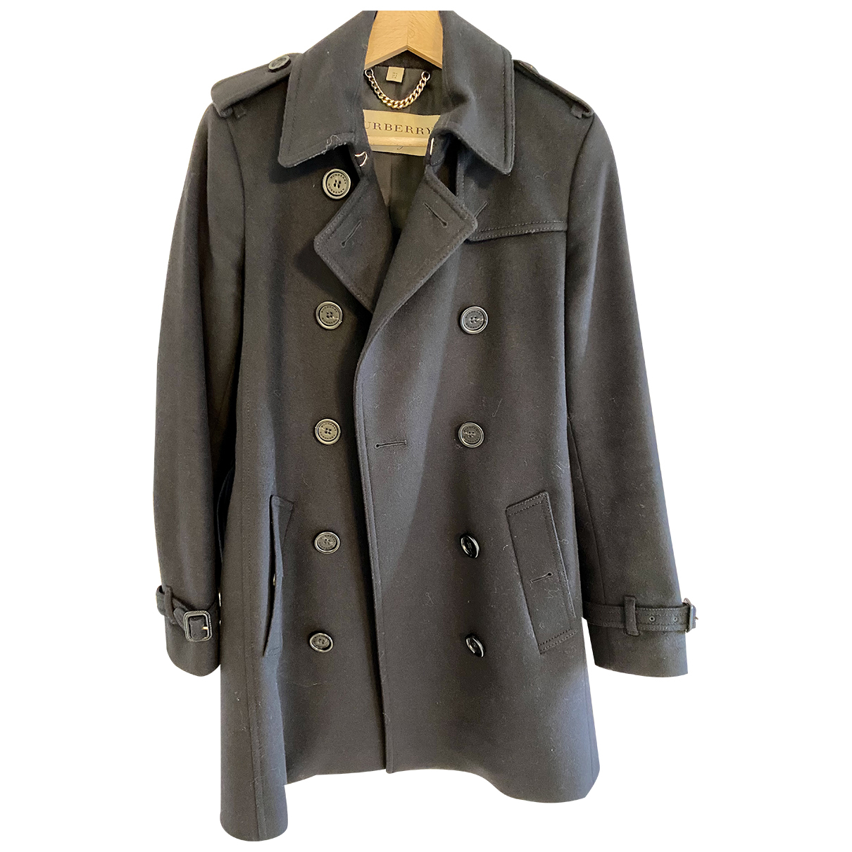 Burberry N Black Wool coat for Women 6 UK