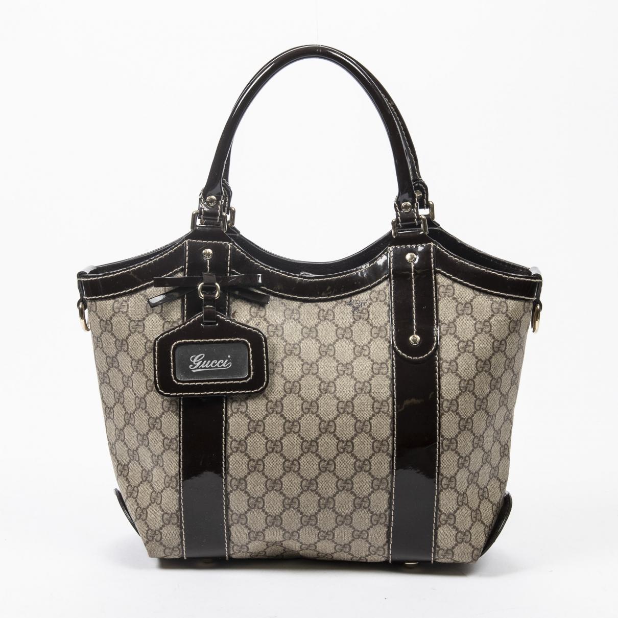 Gucci \N Handtasche in  Braun Baumwolle
