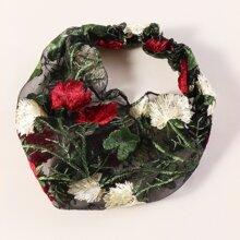 Diadema con bordado floral