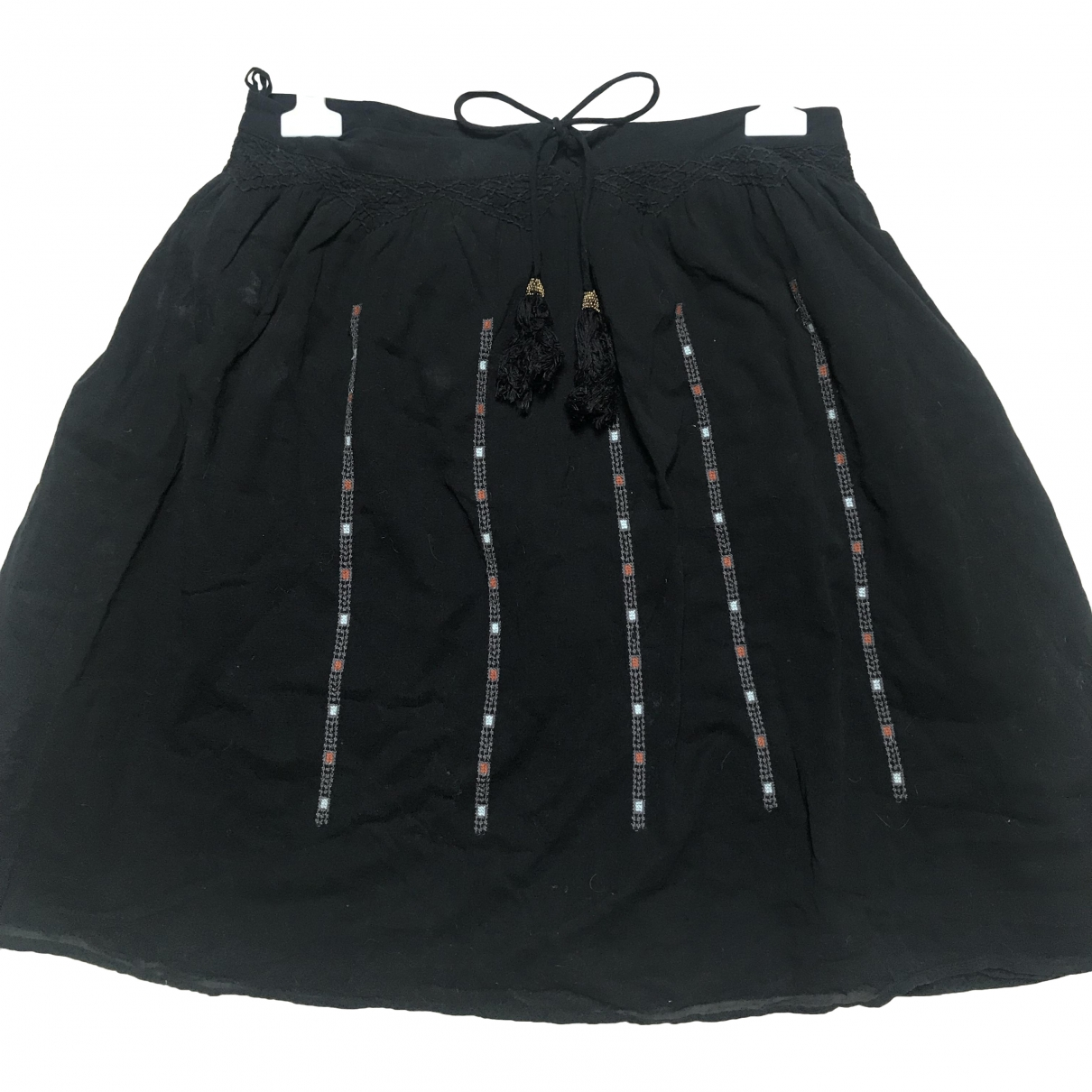 Iro \N Black Cotton skirt for Women 40 FR