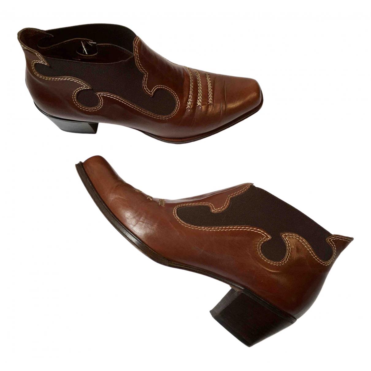 Ermanno Scervino \N Stiefeletten in  Braun Leder