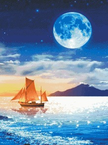 Moonlight Print DIY Diamond Painting Without Frame