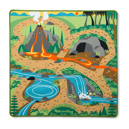 Melissa & Doug Prehistoric Playground Dinosaur Rug, One Size , Multiple Colors
