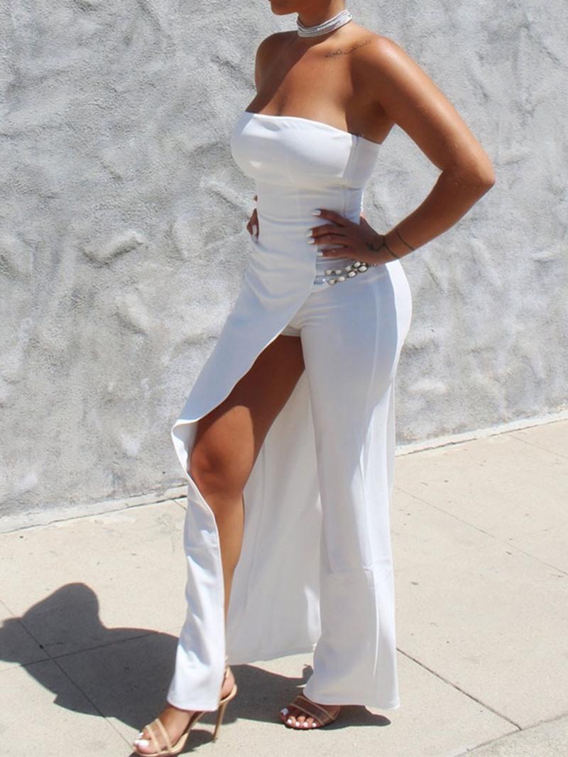 Ericdress Plain Prom Patchwork Sexy Slim Jumpsuit