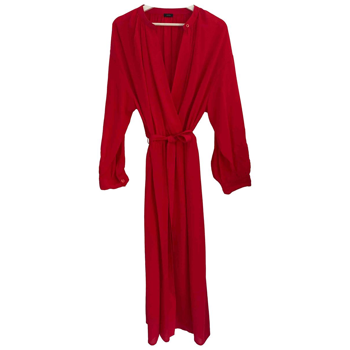 Joseph - Robe   pour femme en soie - rouge