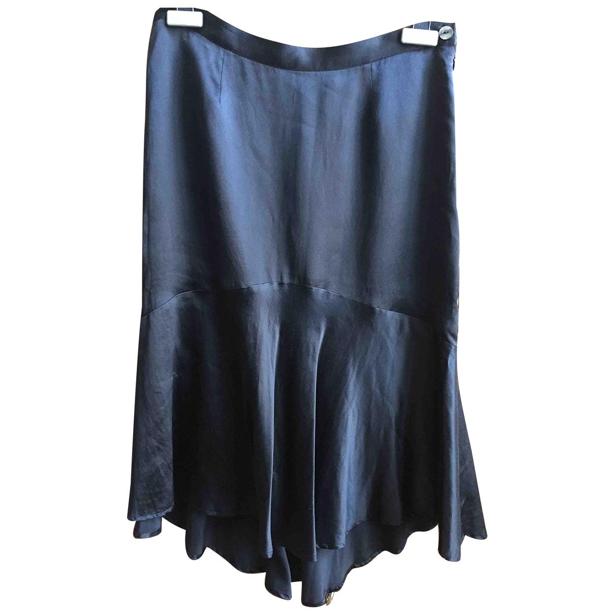 Non Signé / Unsigned \N Black Silk skirt for Women 40 IT