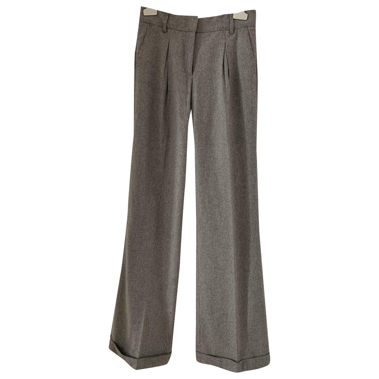 Pantalon recto de Lana Class Cavalli