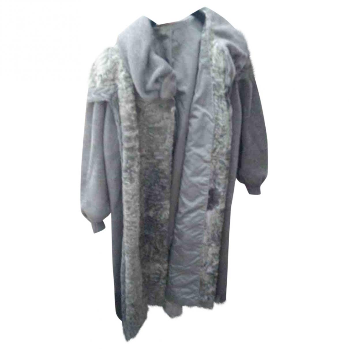 Pellicciai - Manteau   pour femme en agneau de mongolie - gris