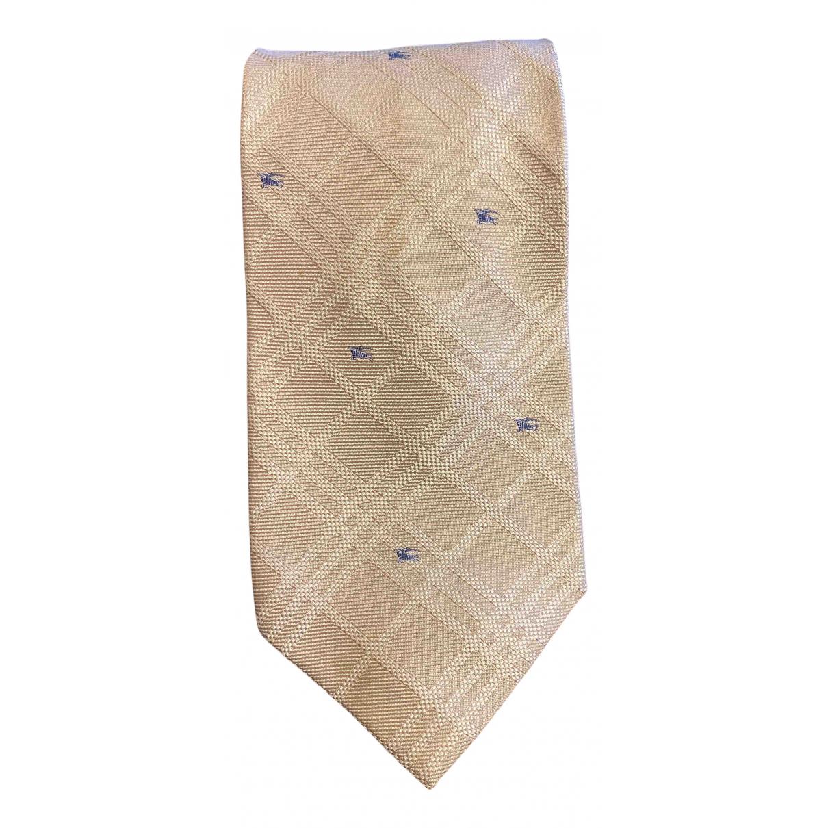 Burberry - Cravates   pour homme en soie - beige