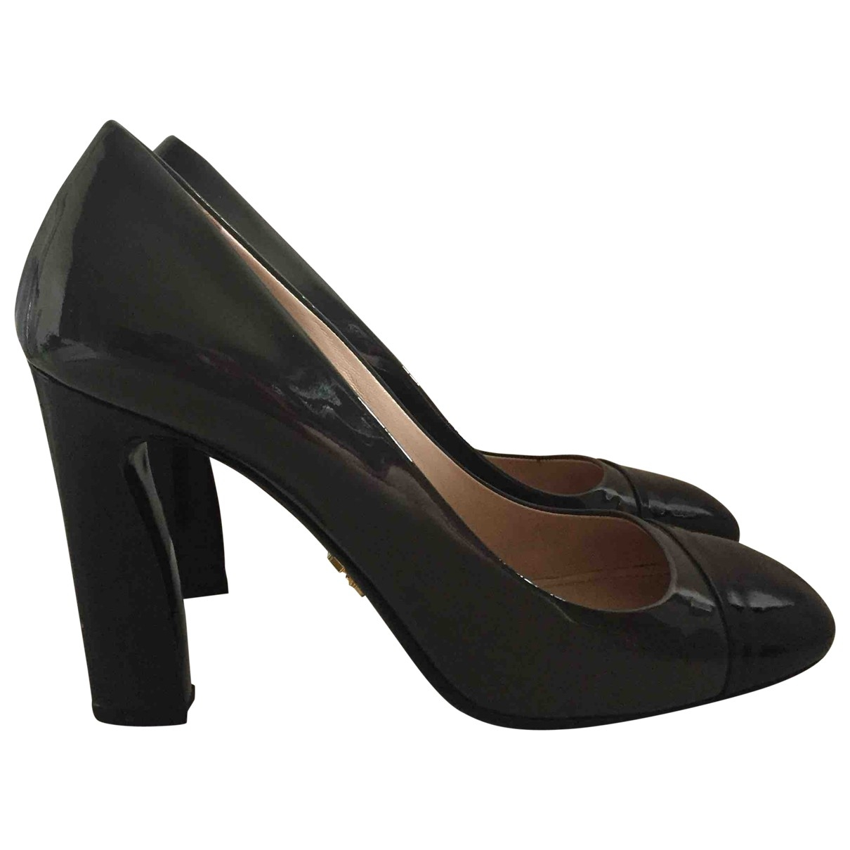 Prada \N Patent leather Heels for Women 37 IT