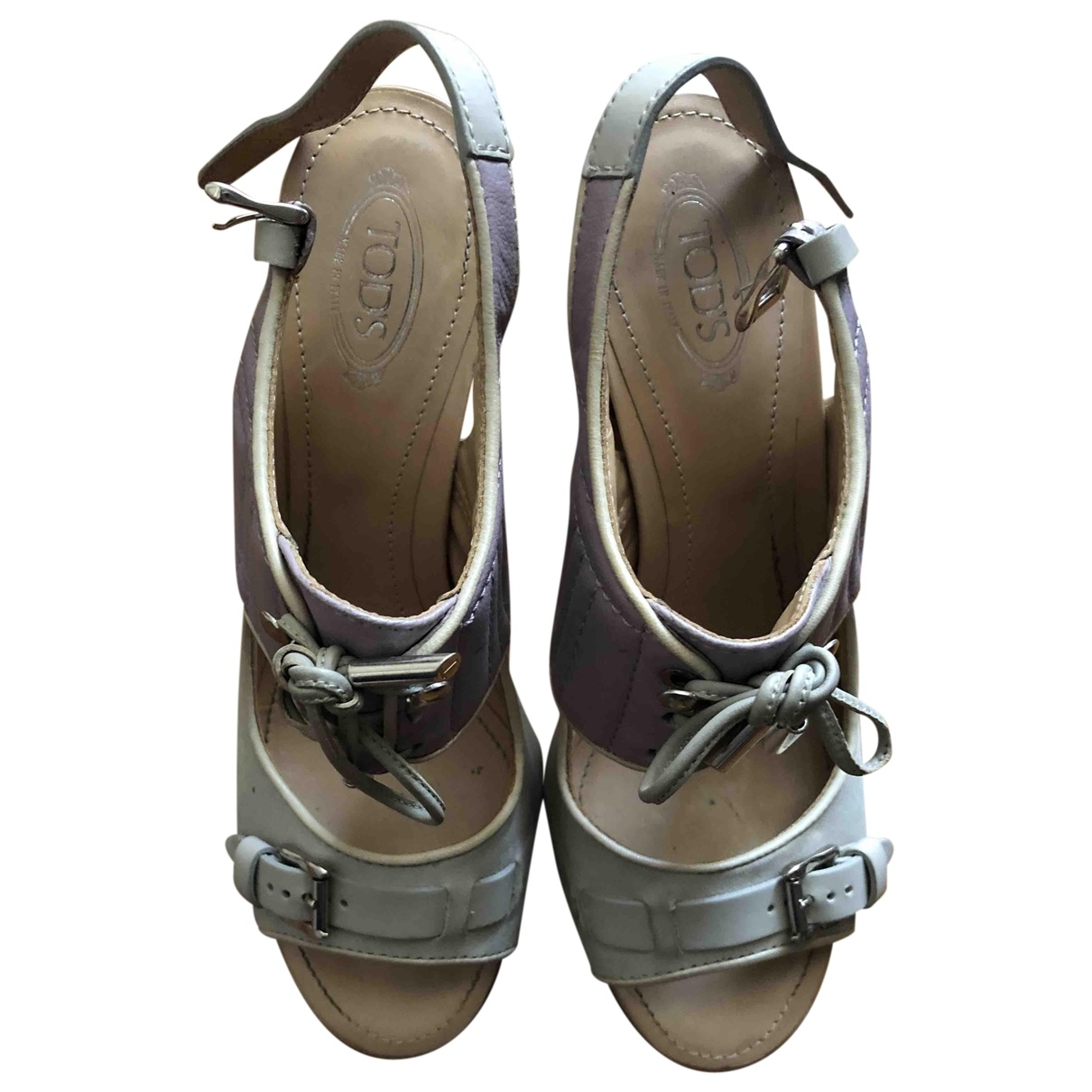 Tod's \N Beige Leather Sandals for Women 37.5 EU